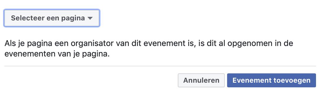 Facebook evenement toevoegen