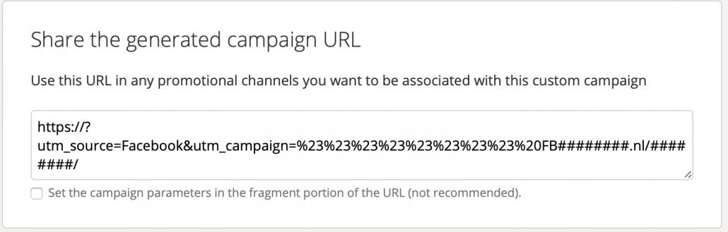 Campagnelink van Campaign URL Builder